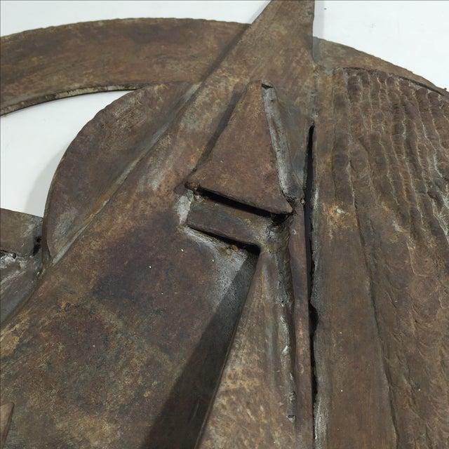 Brutalist Sculpture 1960 Iron - Image 6 of 11