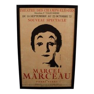 Original Marcel Marceau Theatre Poster