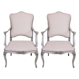 19th Century Painted Italian Armchairs - Pair