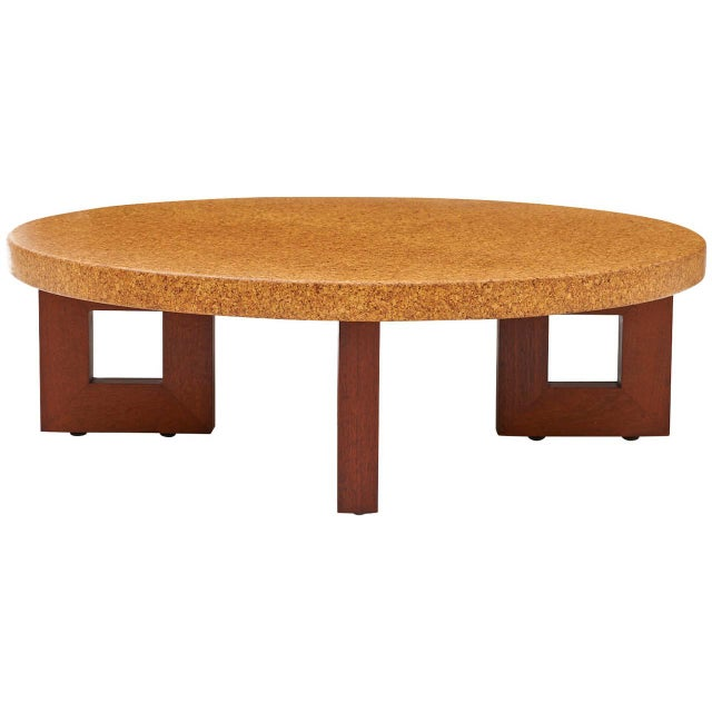 Image of Paul Frankl Cork Coffee Table