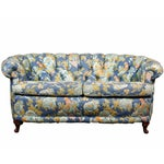 Image of Tufted Loveseat with Parrot Upholstery