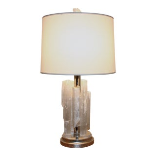 Selenite Crystal Table Lamp