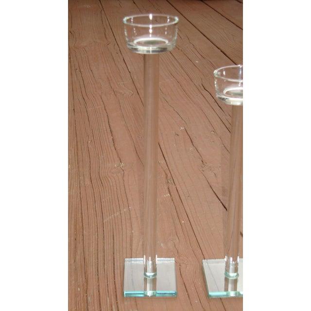 Minimalist Glam Glass Candlesticks - Set of 3 - Image 8 of 9