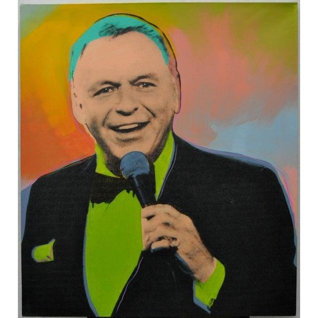 Image of Steve Kaufman Mixed Media Pop Art Frank Sinatra