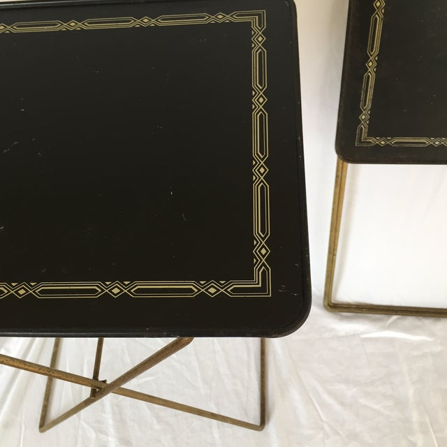 Midcentury Folding Tables - A Pair - Image 4 of 8