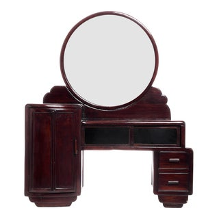 Art Deco Mirrored Vanity Desk