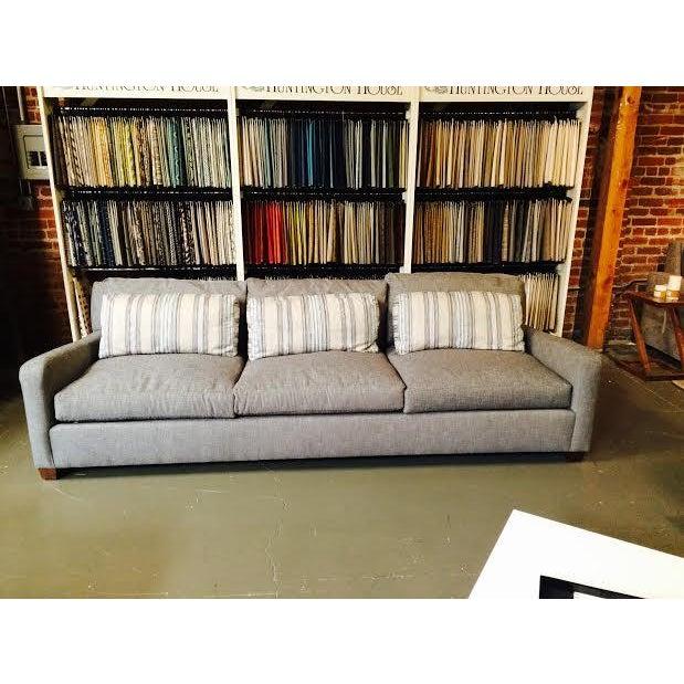 Huntington House Grey and Striped Sofa - Image 2 of 6
