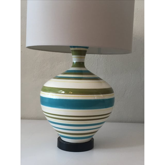 Mid-Century Hand Painted Lamps - A Pair - Image 4 of 5
