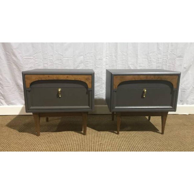 Gray American of Martinsville Nightstands - A Pair - Image 2 of 4