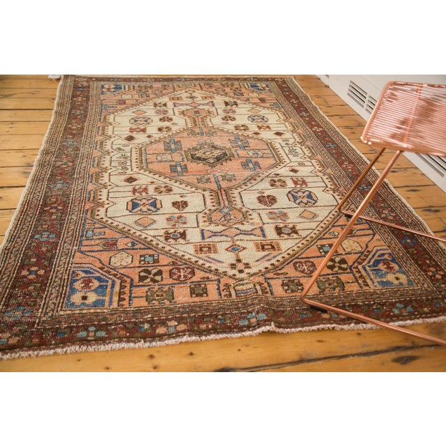 "Vintage Distressed Malayer Rug - 4'4"" x 6'3"" - Image 3 of 11"