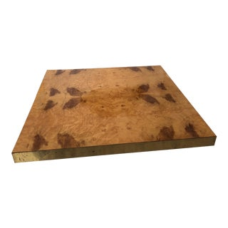 Willy Rizzo Burl Wood Coffee Table