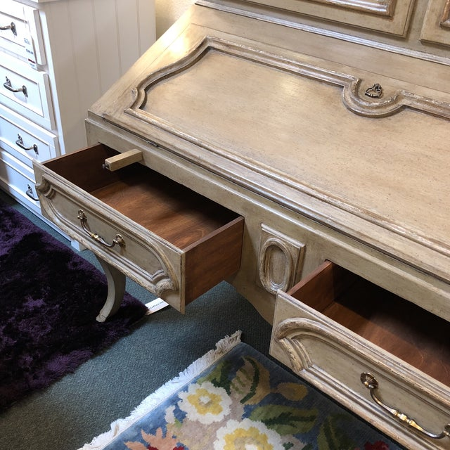 Minton Spidell Louis XV Hand Painted Secretary Desk - Image 5 of 11