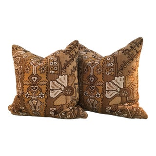 Velvet Brocade Pillows - A Pair