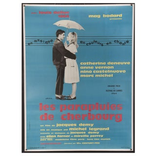 """Umbrellas of Cherbourg"" 1964 French Poster"