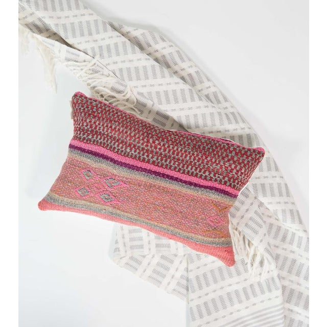 Image of Pink/Red Handwoven Peruvian Pillow