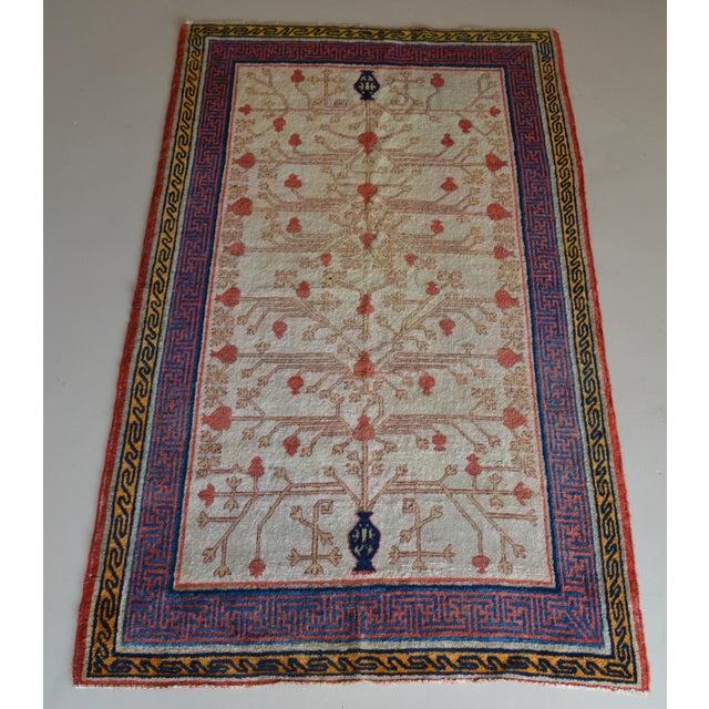 "Antique Khotan Oriental Rug- 3'9"" X 6'3"" - Image 2 of 7"