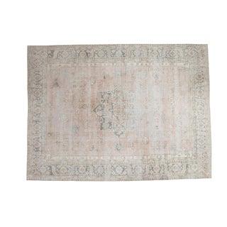 "Distressed Oushak Carpet - 8'9"" X 11'7"""