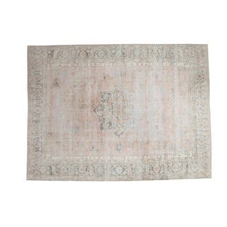 "Distressed Oushak Carpet - 8'9"" X 11'7"""