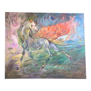 """Come Away"" Surrealist Horse Painting"