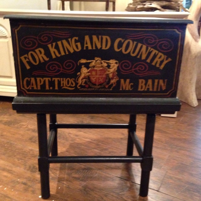 Image of Nautical British Naval Ship Box Side Table