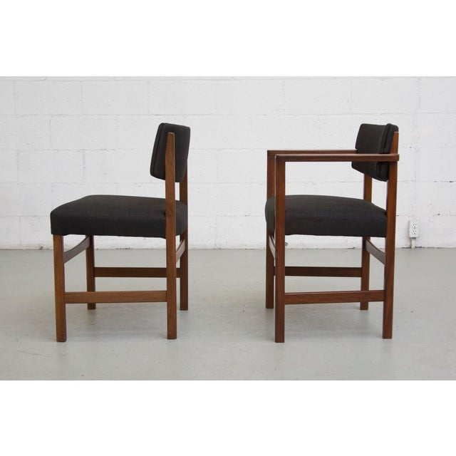 Masculine Danish Mid-Century Dining Chairs - 6 - Image 5 of 11