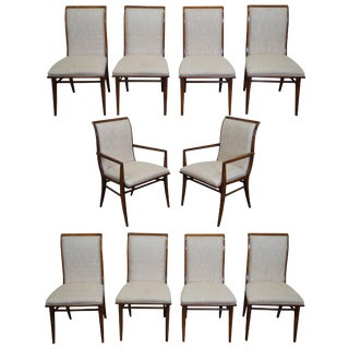 Henredon Mid-Century Modern Dining Chairs - Set of 10
