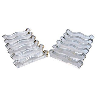 French Sculptural Glass Knife Rests - Set of 12