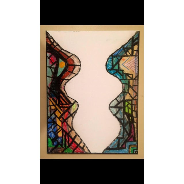 2017 stained glass oil stick painting chairish for Will oil paint stick to glass
