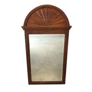 Antique Wooden Wall Mirror