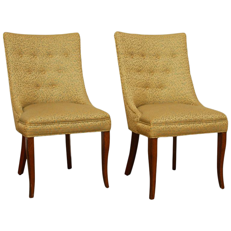W.J. Sloane Mid Century Scoop Back Chairs