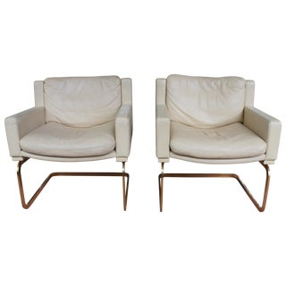Robert Haussmann for De Sede Leather Chairs - Pair