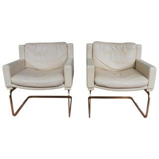 Robert Haussmann for De Sede Leather Chairs - Pair