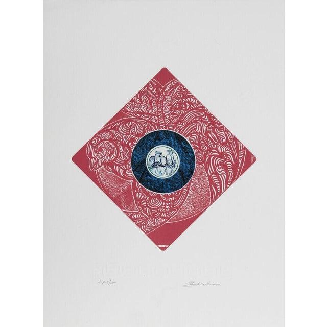 "Image of Martin Barooshian, ""Blue Jays,"" Intaglio Etching"