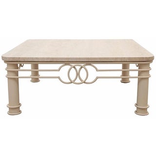 Art Deco Marble Coffee Table