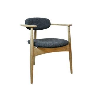 Mid-Century Scandinavian Modern White Oak Hilltop Dining Chair