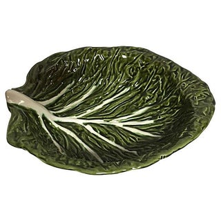 Cabbage Leaf Serving Bowl