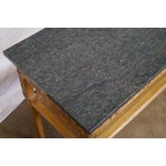 Image of Baker Furniture Carved Teak Chinese Style Granite Top Console Table