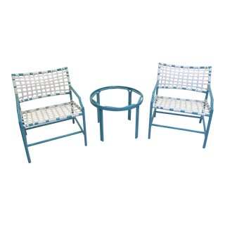 Tropitone Cantina Lounge Chairs & Side Table - S/3