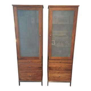 Room and Board Walnut Linear Armoires - a Pair