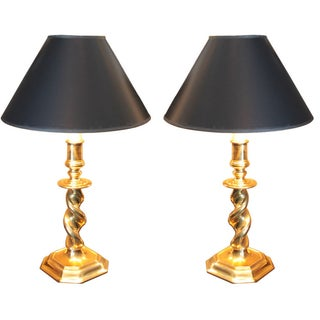 Stiffel Brass Lamps - Pair