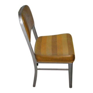 1960s Striped Steelcase Side Chair