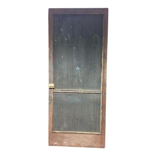 Vintage Brown Country Screen Door