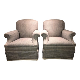Tweed George Smith Chairs - A Pair
