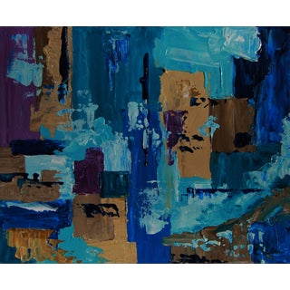 Abstract Blue and Beige Painting-Celeste Plowden