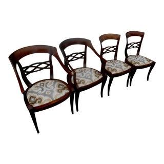 Baker Biedermeier Fruitwood Dining Chairs - Set of 4