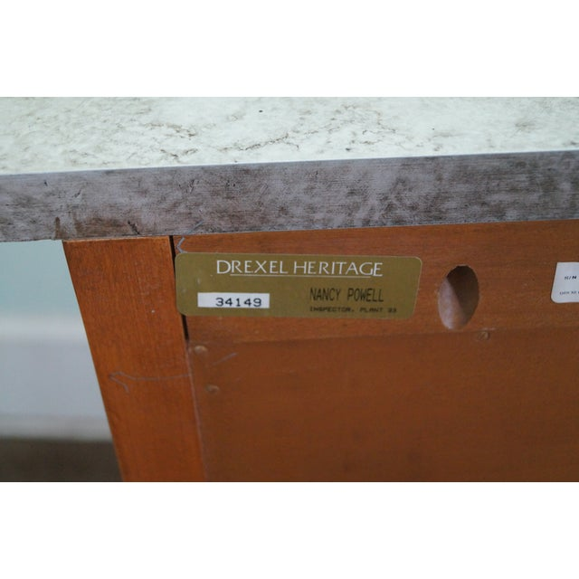 Drexel Heritage Paint Decorated French Style Chest - Image 8 of 10