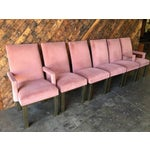 Image of Vintage Salmon Colored Dining Chairs - Set of 6