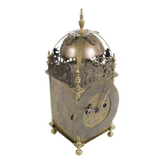18th Century English Brass Lantern Clock
