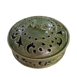 Handmade Ceramic Frog Incense Holder