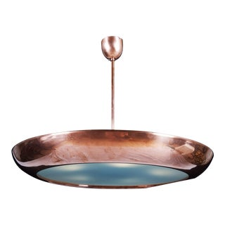 Large Bauhaus copper hanging lamp by Franta Anyz for Napako